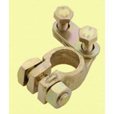 Клема акумоляторна латунна 12-24 вольт мінусова (-)  Застосування універсаль