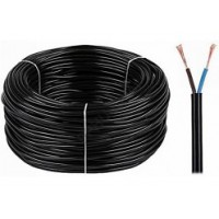 Провід (кабель) електричний автомобільний 2*0,75 (чорний круглий)