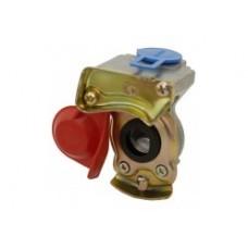 З'єднання пневматичне без клапана діаметр 16 мм. Червоне