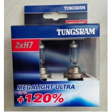 Лампи автомобільні H7 Tunsgram Megalight Ultra +120%