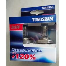Лампи автомобільні H4 Tunsgram Megalight Ultra +120%