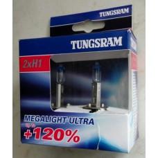 Лампи автомобільні H1 Tunsgram Megalight Ultra +120%